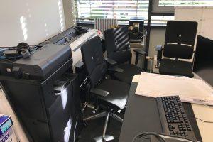 Unordnung im Büro